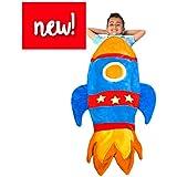 featured product Rocket Blanket Budding Astronauts - Super Fun Design Lets Kids Climb Inside - Premium Quality Rocket Bedding in Blue - Favorite Birthday Gift Kids