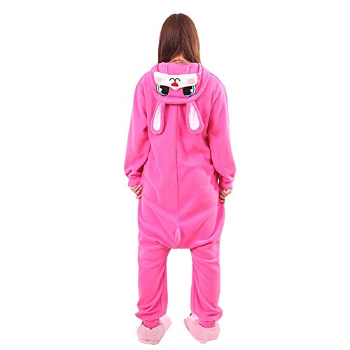 [XMiniLife Rose Rabbit Unisex Adult Halloween Kigurumi Onesie/XL] (Iron Man Cat Costume)