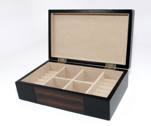 Walnut Wood Jewelry (Bombay Dark Walnut wood JEWELRY BOX Travel CASE / STORAGE / ORGANIZER)