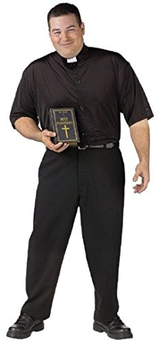 Holy Hammered Drunk Priest Gag Plus Size Adult (Dirty Priest Costumes)