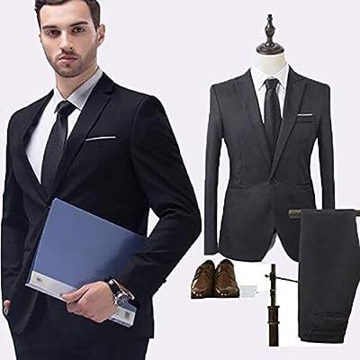 Amazon.com: WYHUI - Traje de hombre clásico, traje pequeño y ...