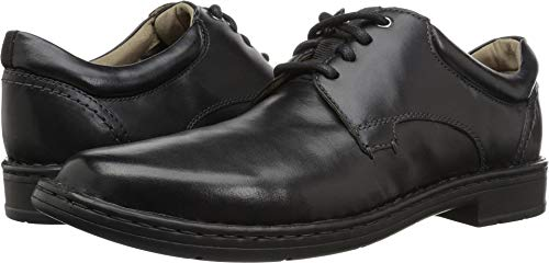 (Clarks Men's Gadson Plain Oxford, Black Leather, 9.5 M US)