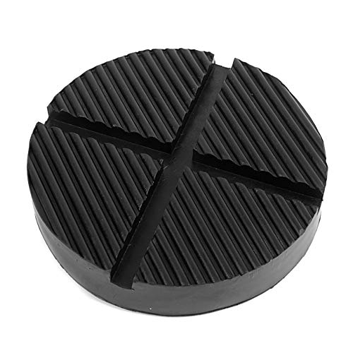 Partol Black Jack Pad Cross Slotted Frame Rail Floor Jack Disk Rubber Pad for Pinch Weld Side Universal Jack Pad