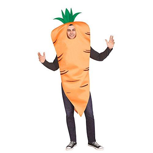 Fun World Men's Carrot, Orange, STD. Up to