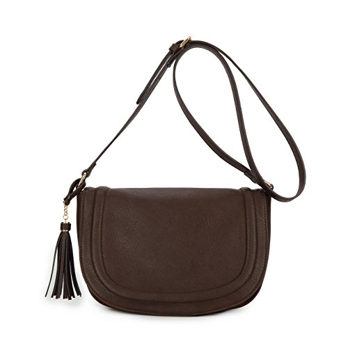Medium Shoulder Crossbody Bags Saddle Bag women bags with Tassel by AMELIE GALANTI by AMELIE GALANTI