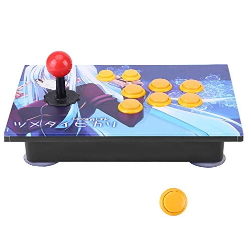 HEEPDD Arcade Game Controller Fighting Stick Joystick Gamepads with USB for PC Arcade Game Android Smartphone TV