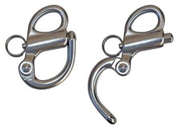 Sharplace 2 St/ück Pack Edelstahl Sch/äkel Haken Schnappsch/äkel Wirbel Sch/äkel 3,2 /× 2,0 cm
