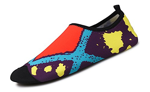 Dry Red COSDN Flexible Shoes Multifunctional Women's Quick Aqua Men's Lightweight Skin Breathable Beach 7xwrwP0Iq