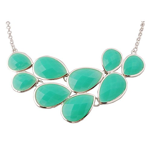 Jane Stone Aqua Trendy Fashion Statement Pendant Necklace for Women - Fashion Womens Trendy