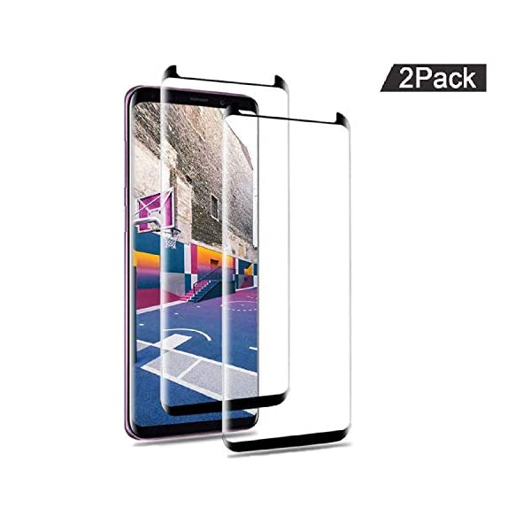 AILIBOTE-Glass-Screen-Protector-for-Samsung-Galaxy-S92-Pack-3D-Curved-Tempered-Glass-Dot-Matrix-with-Easy-Installation-Tray-Case-FriendlyBlack