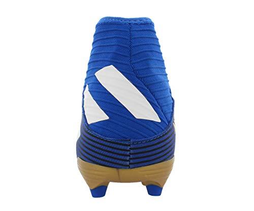 Adidas Mens Nemeziz 19.3 Fg Soccer Shoes Blue/White/Black 10 4