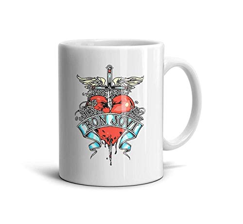 Bon-Jovi-Rock-Band-This-is-Our-House- Classic Coffee Mugs 11oz Ceramic Tea Cups,Bon Jovi Logo-1,One Size