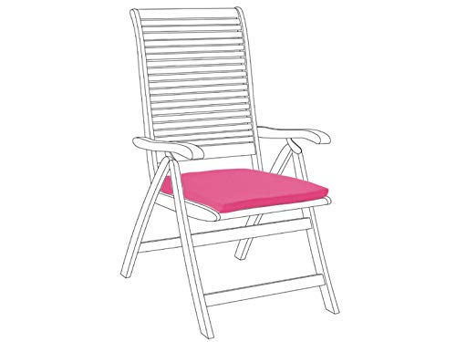 passt f/ür die R/ückseite Gartenstuhl Sitzkissen wasserabweisendes Material. mit Band Kissen in rosa f/ür drinnen und drau/ßen