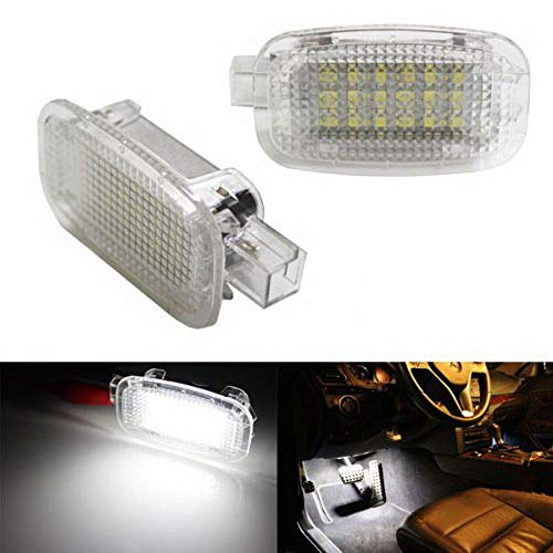 - iJDMTOY (2) Full LED Side Door Courtesy Lamp For Mercedes-Benz C E S R G ML CL SL GL GLK Class, OEM Replacement as Footwell, Vanity Mirror, Trunk or Glovebox Light, Powered by 18-SMD White LED Lights