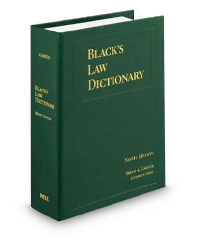 Black's Law Dictionary, Standard Ninth Edition by Brand: West