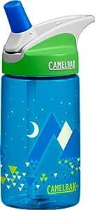 CamelBak Geo Mountains Eddy Kids Water Bottle, .4 L, Blue