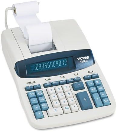 1260 – 3 2色丈夫な印刷電卓、ブラック/レッド印刷、4.6 Lines/sec