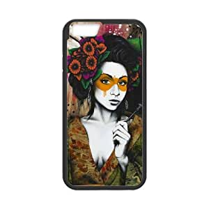 Mixed Media Geisha iPhone 6 4.7 Inch Cell Phone Case Black MSU7151630