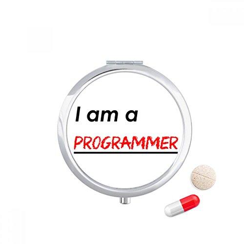 Quote I Am A Programmer Travel Pocket Pill case Medicine Drug Storage Box Dispenser Mirror Gift