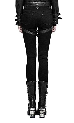 Rave Femme 292 Avec Punk Harnais Pics Pantalon K Rock Gothique Noir Et fxnw6d7