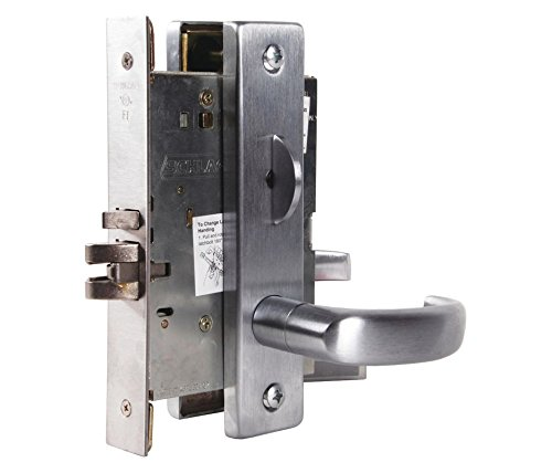 (Schlage L9070P 17L 626 C123 Keyway Series L Grade 1 Mortise Lock, Classroom Function, C123 Keyway, 17L Design, Satin Chrome Finish)