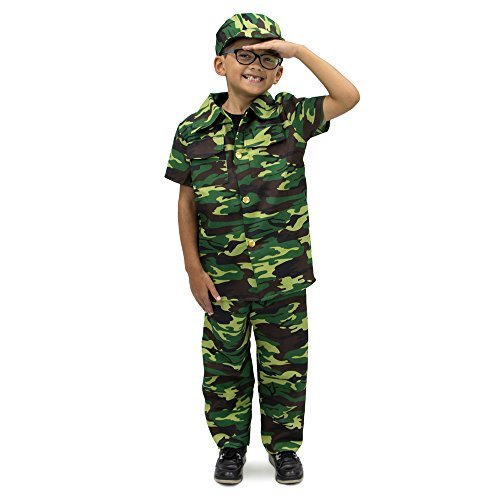 (Courageous Commando Children's Boy Halloween Dress Up Theme Party Roleplay & Cosplay Costume (Youth X-Large)