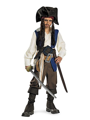 (Pirates of the Caribbean - Captain Jack Sparrow Child Costume Size M(7-8) )