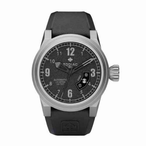 Zodiac ZO8530 - Reloj analógico automático para Hombre, Correa de Caucho Color Negro: Amazon.es: Relojes