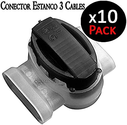 Conector estanco para 3 cables eléctricos de 1,5 mm 30V máximo ...