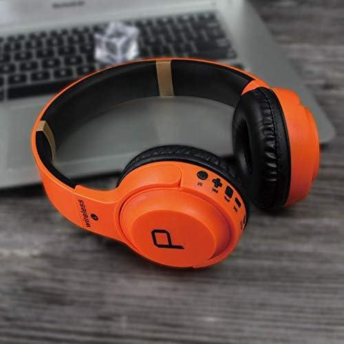 ML Tarjeta de Auriculares inalámbricos Bluetooth Subwoofer Call Auriculares de Juego Plegables telescópicos para Playstation 4 Xbox One PC Notebook Tablet,Orange: Amazon.es: Deportes y aire libre