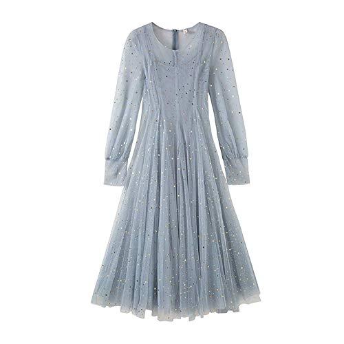 Woman Dress Mesh Dress Summer Sequined Skirt Women's Long Skirt