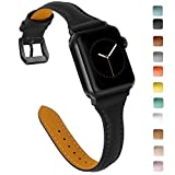 OULUCCI Compatible with Apple Watch Band 38mm 40mm, Top Grain Leather Band Replacement Strap for iWatch Series 4,Series 3,Series 2,Series 1,Sport, Edition