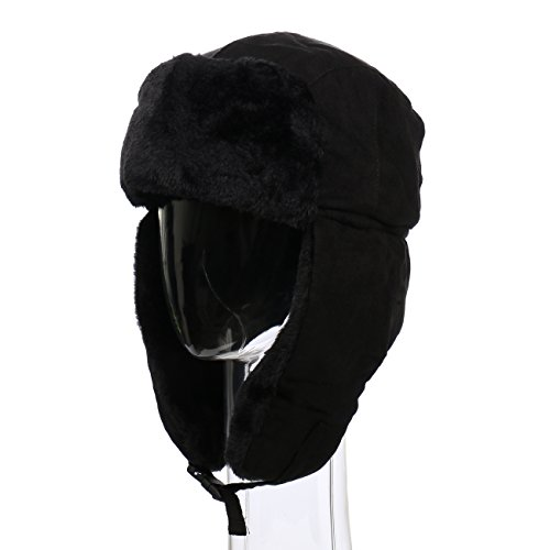 Winter Wear Unisex Faux Suede Trooper Flap Hat w/ Fleece Trim SW3570