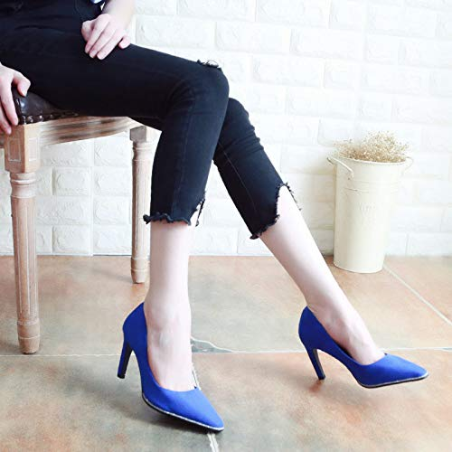 Thin 8Cm Pointed High Thirty Black Women'S Banquet And Sequins Slim Autumn Heels Shallow KPHY Five Fashion Shoes Shoes YSRwH