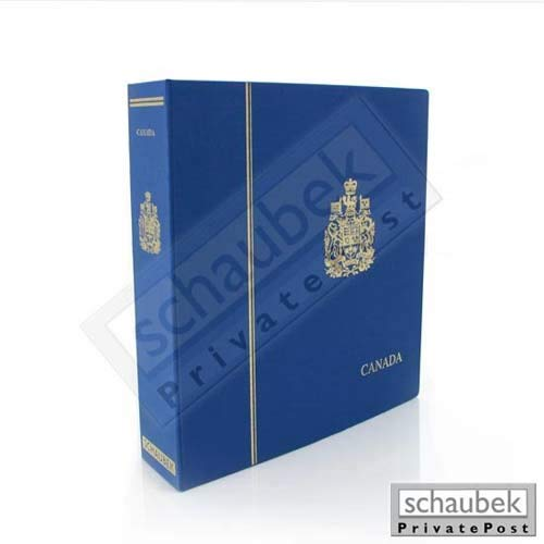 Schaubek Album Kanada 2000-2004 Standard im geprägten Leinen-Schraubbinder blau, Band IV, mit Schutzkassette KOA-944/04N