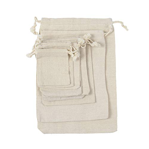 50pcs Small Flat Linen Jute Burlap Drawstring Bags Soap Rings Earrings Brooch Jewelry Wedding Favor Gift Package Pouches (8X10cm)