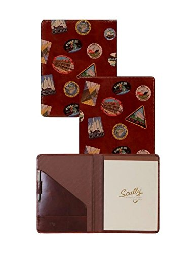 Scully Leather letter size pad, 5012-16, WALNUT, 29 (Letter Scully Leather)