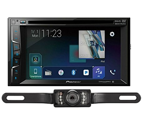 Pioneer AVH-500EX 6.2 DVD Receiver with Universal License Plate Backup Camera Package