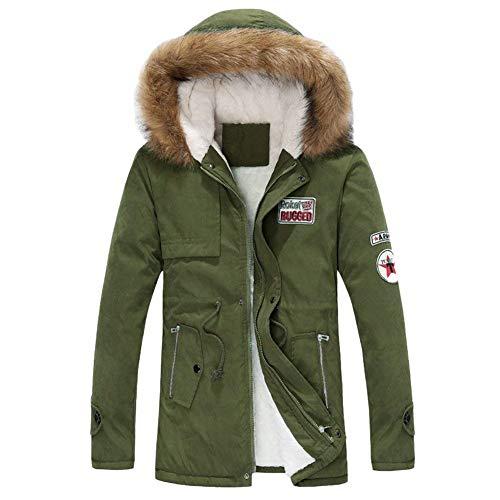 grün Jacket Winter Men's Apparel Armee Velvet Jacket Coat Coat Jacket Warm Hooded Winter Outwear Winter Jacket Thick Parka xxPUTCw