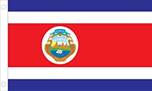 Allied Flag Outdoor Nylon Costa Rica Country Flag, 3-Feet by 5-Feet With Seal