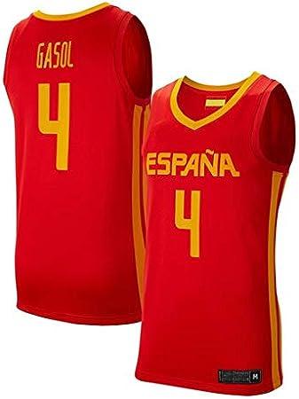 K&A Camiseta PAU Gasol Selección Española de Baloncesto Rojo 2019 para Hombre & Niño: Amazon.es: Deportes y aire libre