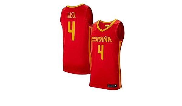 K&A Camiseta PAU Gasol Selección Española de Baloncesto Rojo 2019 para Hombre & Niño (Rojo, Hombre XXL): Amazon.es: Deportes y aire libre
