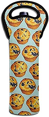 b4b4bdc0ff43 Amazon.com - SHI-XS Blueberry Muffin Wine Tote Carrier Bag Purse for ...
