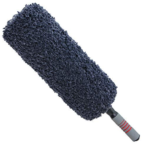 TAKAVU Ultimate Car Duster - Quick & Easy Removes Dust and Pollen - Reach to 32 Long - Ultra Soft Microfiber Bristle - Unbreakable Extendable Handle - Exterior or Interior Use - Lint Free