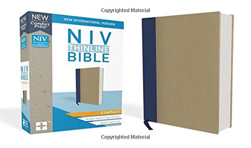 Niv Pocket Thin (NIV, Thinline Bible, Compact, Cloth over Board, Blue/Tan, Red Letter Edition, Comfort Print)