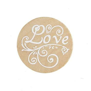 Love 5/Styles en bois Tampon en caoutchouc Forme Ronde 5/Styles Craft