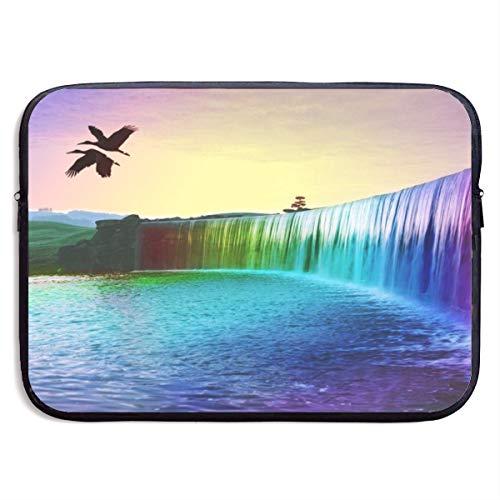 Laptop Sleeve Bag Watercolor Waterfall Handbag Case Computer Bag Zipper Notebook Cover 136
