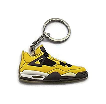 eac8f7669122a Amazon.com: Jordan IV/4 Lightning Yellow LS Sneakers Shoes Keychain ...