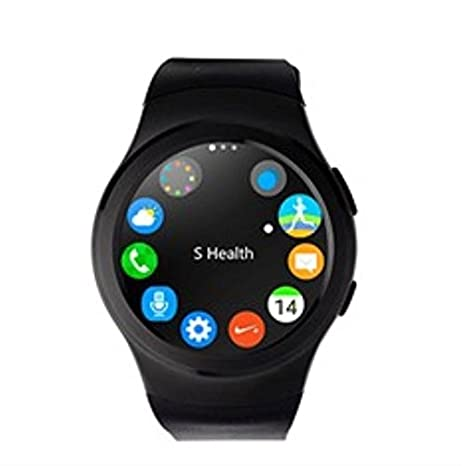 Swiss-pro - Reloj Inteligente Vernier smartwatch Negro BT 4.0 / Tarjeta sim/pulsometro/podometro