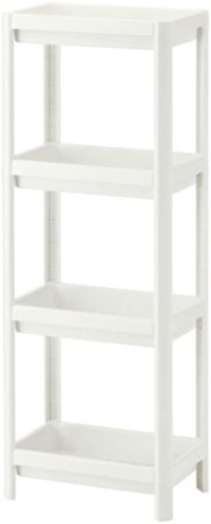 Ikea 403.078.66 VESKEN Regal in weiß (23x100cm) Shelf 23 x 100 cm White